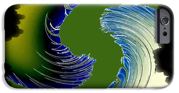 Abstract Digital Art iPhone Cases - Regatta iPhone Case by Will Borden