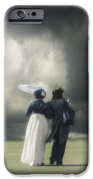 Couple iPhone Cases - Regency couple iPhone Case by Joana Kruse