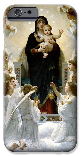 Recently Sold -  - Child iPhone Cases - Regina Angelorum iPhone Case by William Bouguereau
