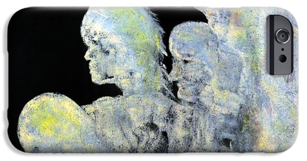 Concept Paintings iPhone Cases - Reincarnation iPhone Case by Katie Black
