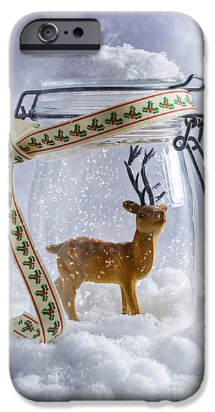 Snowball iPhone Cases - Reindeer Figure iPhone Case by Amanda And Christopher Elwell
