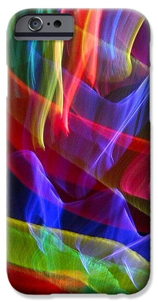 Abstract Forms iPhone Cases - Rejoice in Color iPhone Case by Sylvia Herrington