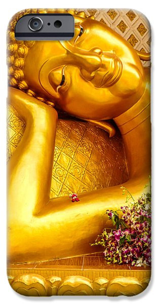 Relaxing Contemplation  iPhone Case by Allan Rufus