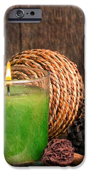 Relaxing Spa candle iPhone Case by Edward Fielding
