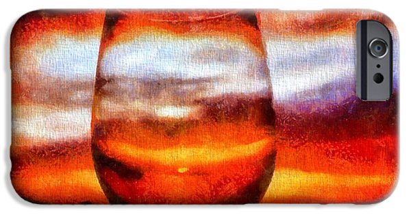 Reflecting Sunset iPhone Cases - Relaxing Sunset iPhone Case by Dan Sproul