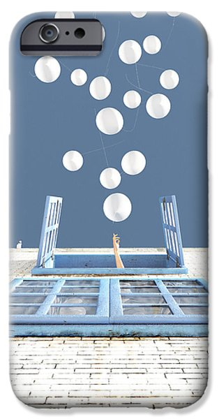 Looking Digital Art iPhone Cases - Release iPhone Case by Cynthia Decker
