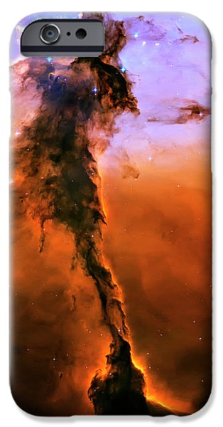 Heaven Photographs iPhone Cases - Release - Eagle Nebula 2 iPhone Case by The  Vault - Jennifer Rondinelli Reilly