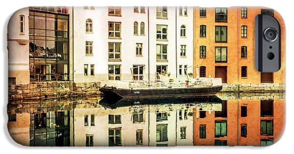 Norway iPhone Cases - Relections iPhone Case by Catherine Arnas