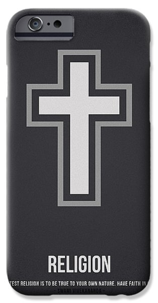 Jesus Drawings iPhone Cases - Religion iPhone Case by Aged Pixel