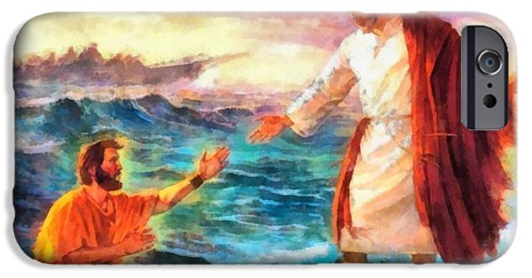 Christian Art . Devotional Art Paintings iPhone Cases - Religious Art 27 iPhone Case by Victor Gladkiy