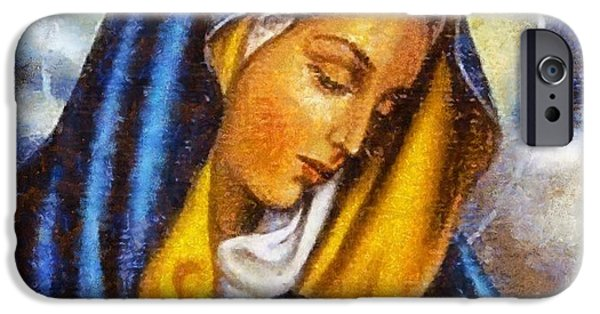 Christian Art . Devotional Art Paintings iPhone Cases - Religious Art 4 iPhone Case by Victor Gladkiy