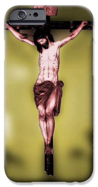 Crucifixtion iPhone Cases - Religious icon iPhone Case by Brian Grady