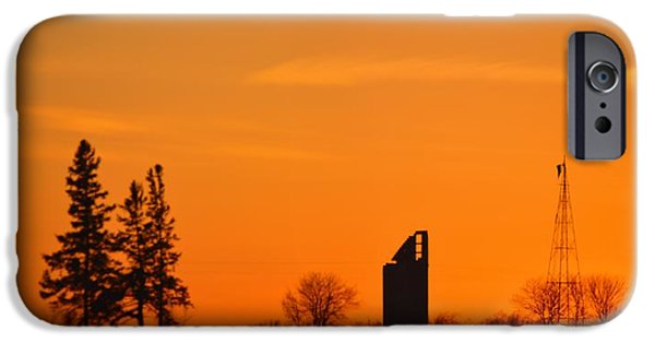 Power iPhone Cases - Remains Of A Farm Panorama iPhone Case by Bonfire Photography