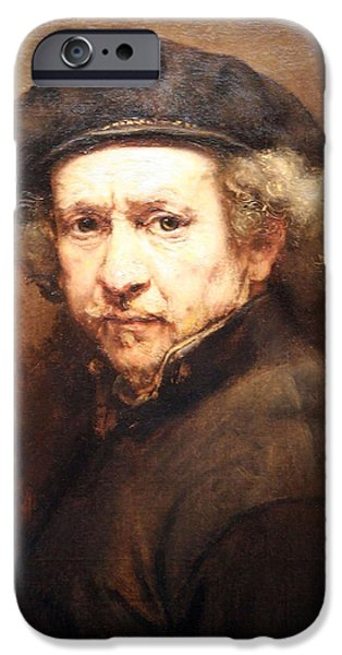 Cora Wandel iPhone Cases - Rembrandt On Rembrandt iPhone Case by Cora Wandel