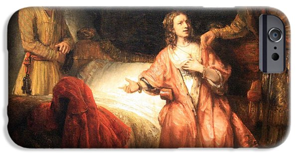 Cora Wandel iPhone Cases - Rembrandts Joseph Accused By Potiphars Wife iPhone Case by Cora Wandel