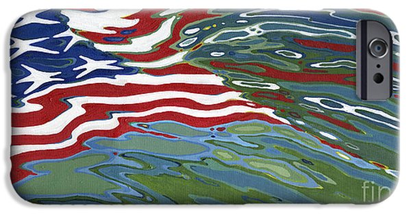 4th July Paintings iPhone Cases - Remember iPhone Case by Margaret Juul