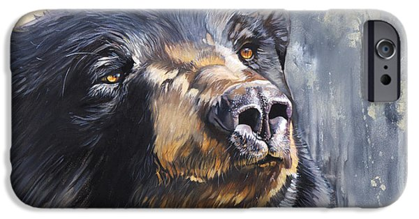 Black Bear iPhone Cases - Remember me iPhone Case by J W Baker