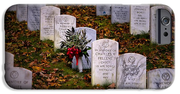 Soldiers National Cemetery Digital iPhone Cases - Remember our Dead iPhone Case by Jerry Fornarotto