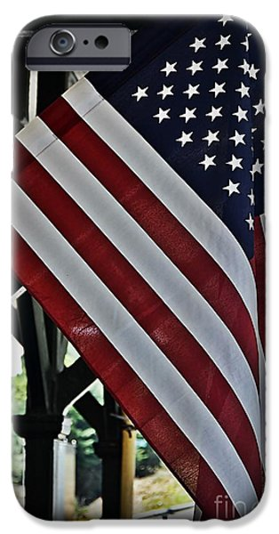 Old Glory iPhone Cases - Remember Our Veterans iPhone Case by JW Hanley