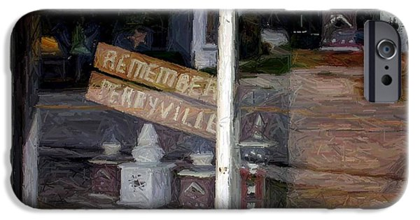 House Art Tapestries - Textiles iPhone Cases - Remember Perryville - Perryville KY  iPhone Case by Thia Stover