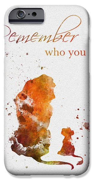 Recently Sold -  - Animation iPhone Cases - Remember who you are iPhone Case by Rebecca Jenkins