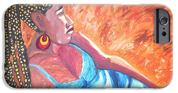 Ethiopian Woman iPhone Cases - Remembering Ethiopia iPhone Case by Esther Newman-Cohen