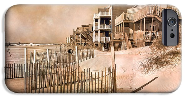Topsail Island iPhone Cases - Remembering the Days iPhone Case by Betsy A  Cutler