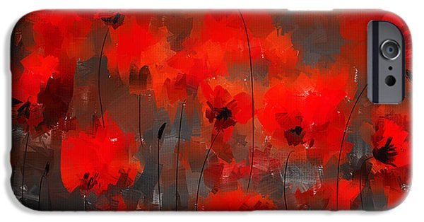 In Bloom Paintings iPhone Cases - Remembrance iPhone Case by Lourry Legarde