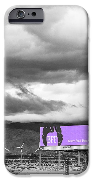 REMEMBRANCE Palm Springs First Lady Betty Ford iPhone Case by William Dey