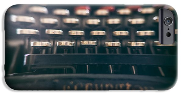Typewriter Keys Photographs iPhone Cases - Remington Keys iPhone Case by Nomad Art And  Design