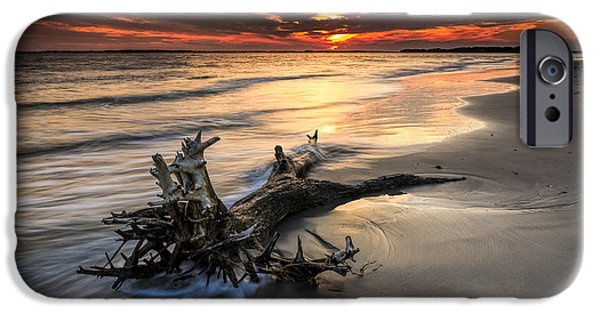 Recently Sold -  - Ocean Sunset iPhone Cases - Remnants iPhone Case by Justin Falk
