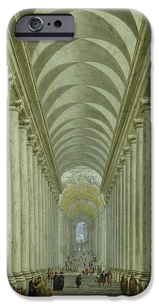 Renaissance iPhone Cases - Renaissance Indoor Staircase iPhone Case by Wilhelm Ehrenberg