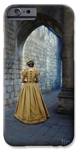 Ball Gown Photographs iPhone Cases - Renaissance Lady iPhone Case by Jill Battaglia