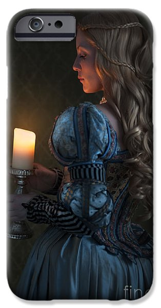 Recently Sold -  - Duchess iPhone Cases - Renaissance Woman Holding A Candle  iPhone Case by Lee Avison
