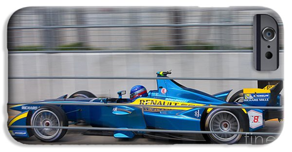 Michelin iPhone Cases - Renault Race Team ePrix II iPhone Case by Rene Triay Photography