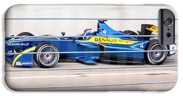 Michelin iPhone Cases - Renault Race Team ePrix Championship Race iPhone Case by Rene Triay Photography