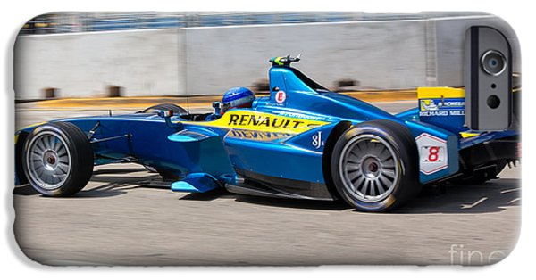 Michelin iPhone Cases - Renault Winner of the Miami ePrix iPhone Case by Rene Triay Photography