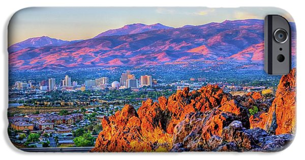 Mount Rose iPhone Cases - Reno Nevada Sunrise iPhone Case by Scott McGuire