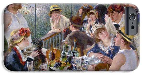 Table Wine iPhone Cases - Renoir: Luncheon, 1880-81 iPhone Case by Granger