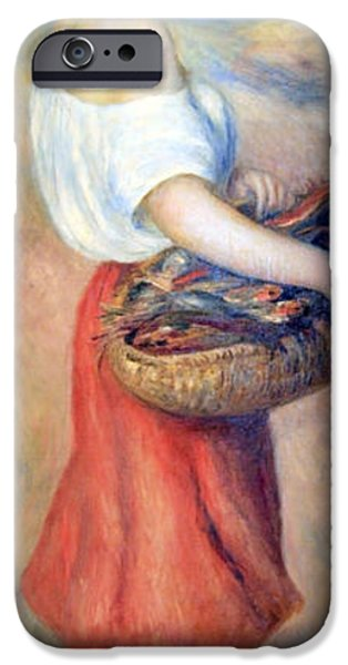 Cora Wandel iPhone Cases - Renoirs Girl With A Basket Of Fish iPhone Case by Cora Wandel