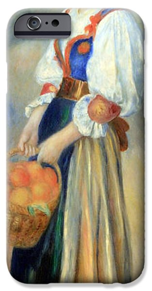 Cora Wandel iPhone Cases - Renoirs Girl With A Basket Of Oranges iPhone Case by Cora Wandel