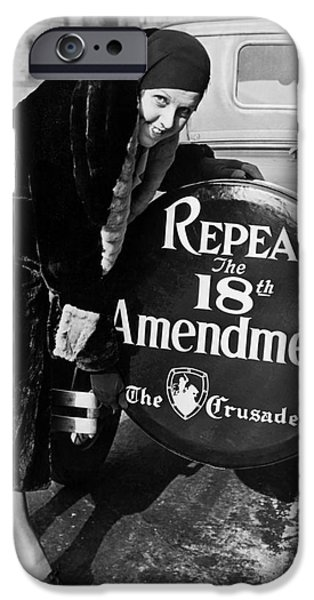 Parade iPhone Cases - Repeal the 18th Amendment iPhone Case by Jon Neidert