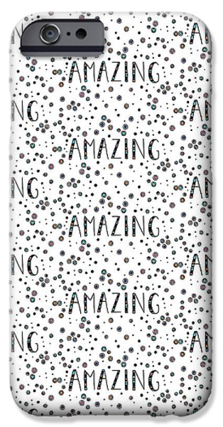 Graphic Design iPhone Cases - Repeat Print - Amazing iPhone Case by Susan Claire