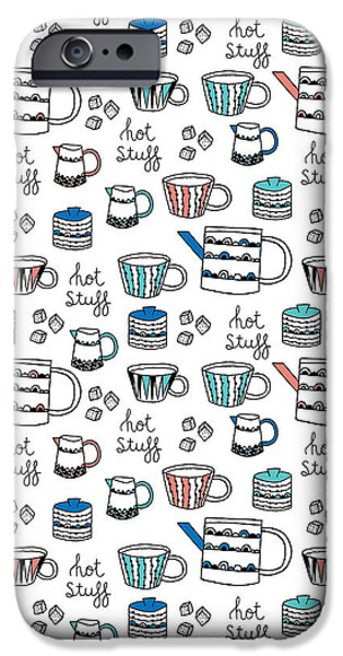 Graphic Design iPhone Cases - Repeat Print - Swedish Tea Party iPhone Case by Susan Claire