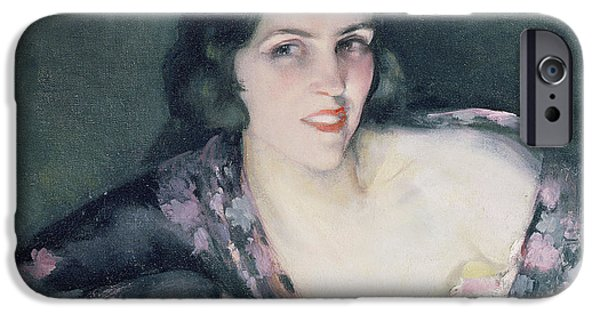 Portraits Female Paintings iPhone Cases - Repose iPhone Case by Eugene Cyprian Boulet