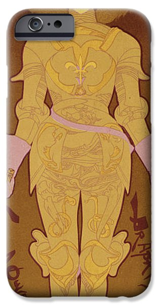 Weapon Drawings iPhone Cases - Reproduction Of A Poster Advertising iPhone Case by Georges de Feure