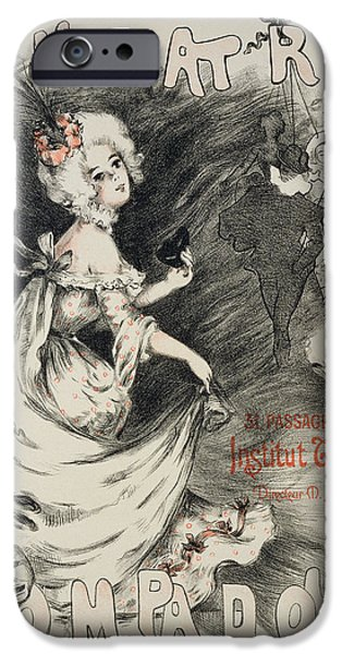 Puppets iPhone Cases - Reproduction Of A Poster iPhone Case by Emmanuel Barcet