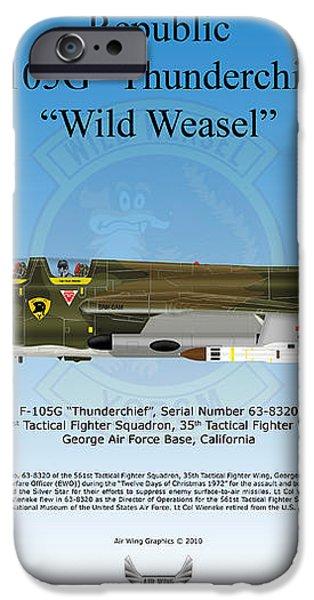 Republic F-105G Thunderchief iPhone Case by Arthur Eggers