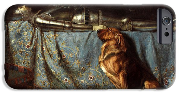 Briton iPhone Cases - Requiescat iPhone Case by Briton Riviere