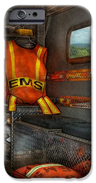 Rescue - Emergency Squad  iPhone Case by Mike Savad